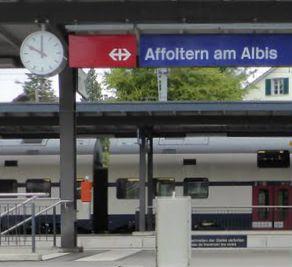 Anfahrt Affoltern a.Albis, nahe am Bahnhof