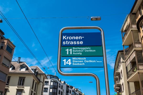 Haltestelle Hotel Krone Zürich