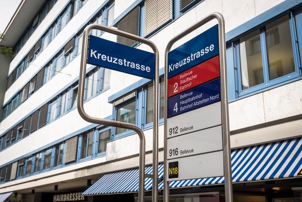 Haltestelle Anfahrt Zürich Stadelhofen